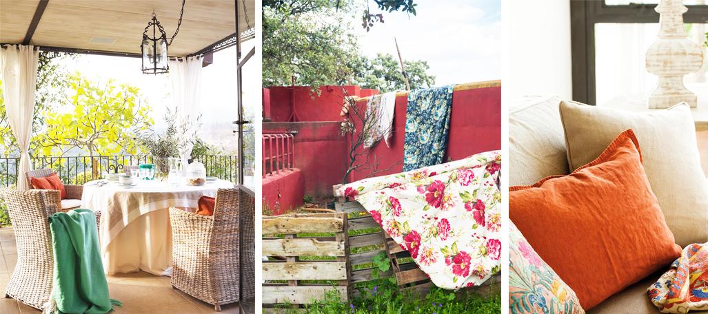 textiles para decorar casa de estilo andaluz