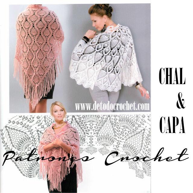 Patrones Crochet de Chal y Capa | Todo crochet
