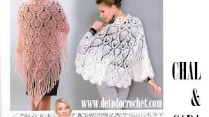 Patrones Crochet de Chal y Capa