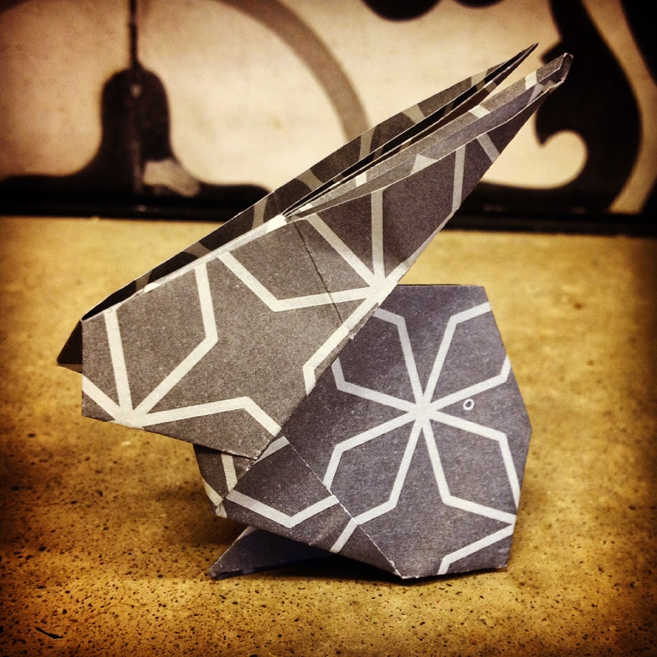 Oragami Easter Bunny by Howling At The Moon