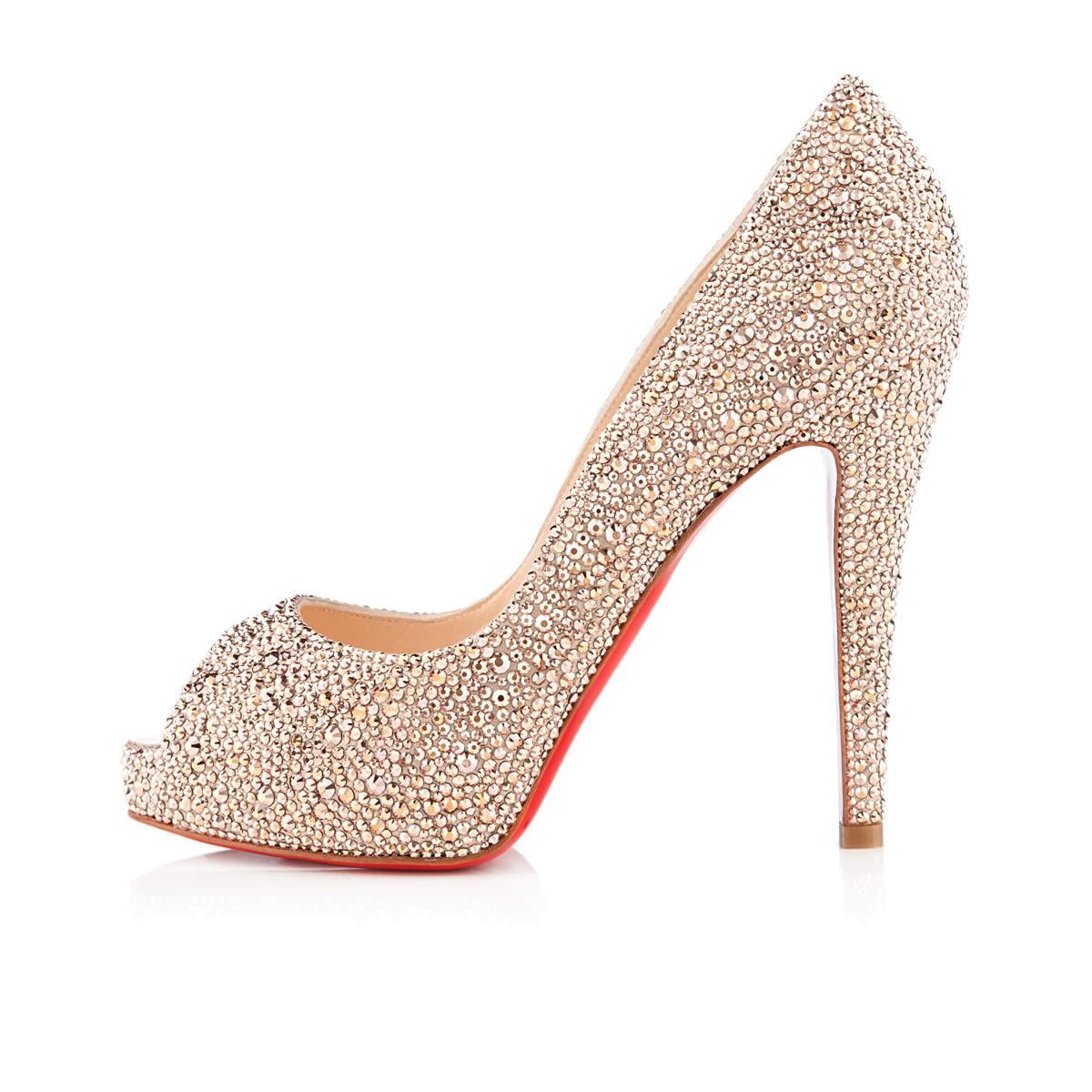 Pink Christian Louboutin Wedding Shoes