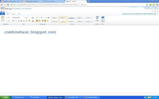 Testing after setting up online Microsoft Office using Skydrive of outlook.com
