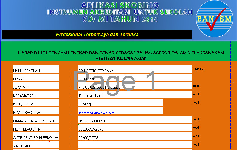 Download Aplikasi Skoring Evadir SD 2016 Berbasis Ms. Excel Terbaru(New Update)