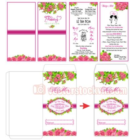 Thiệp cưới 4 màu (5)