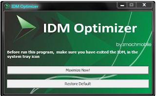 IDM Optimizer - Mempercepat Koneksi Unduhan Kamu