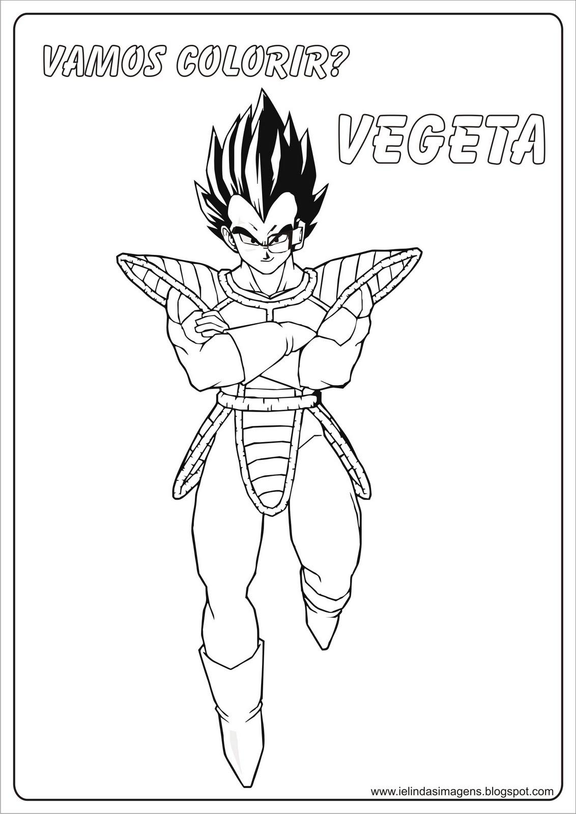 Vegeta Dragon Ball Z Colorir