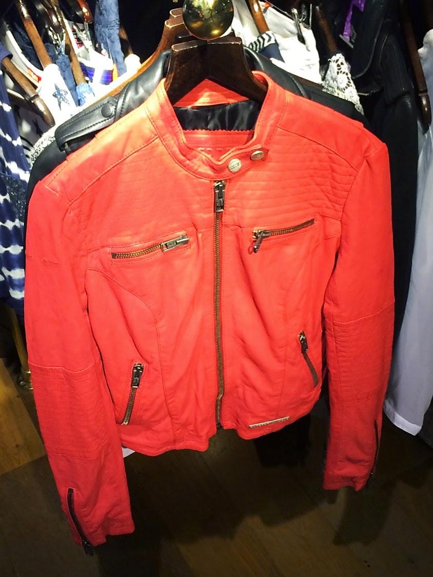 neon pink leather jacket