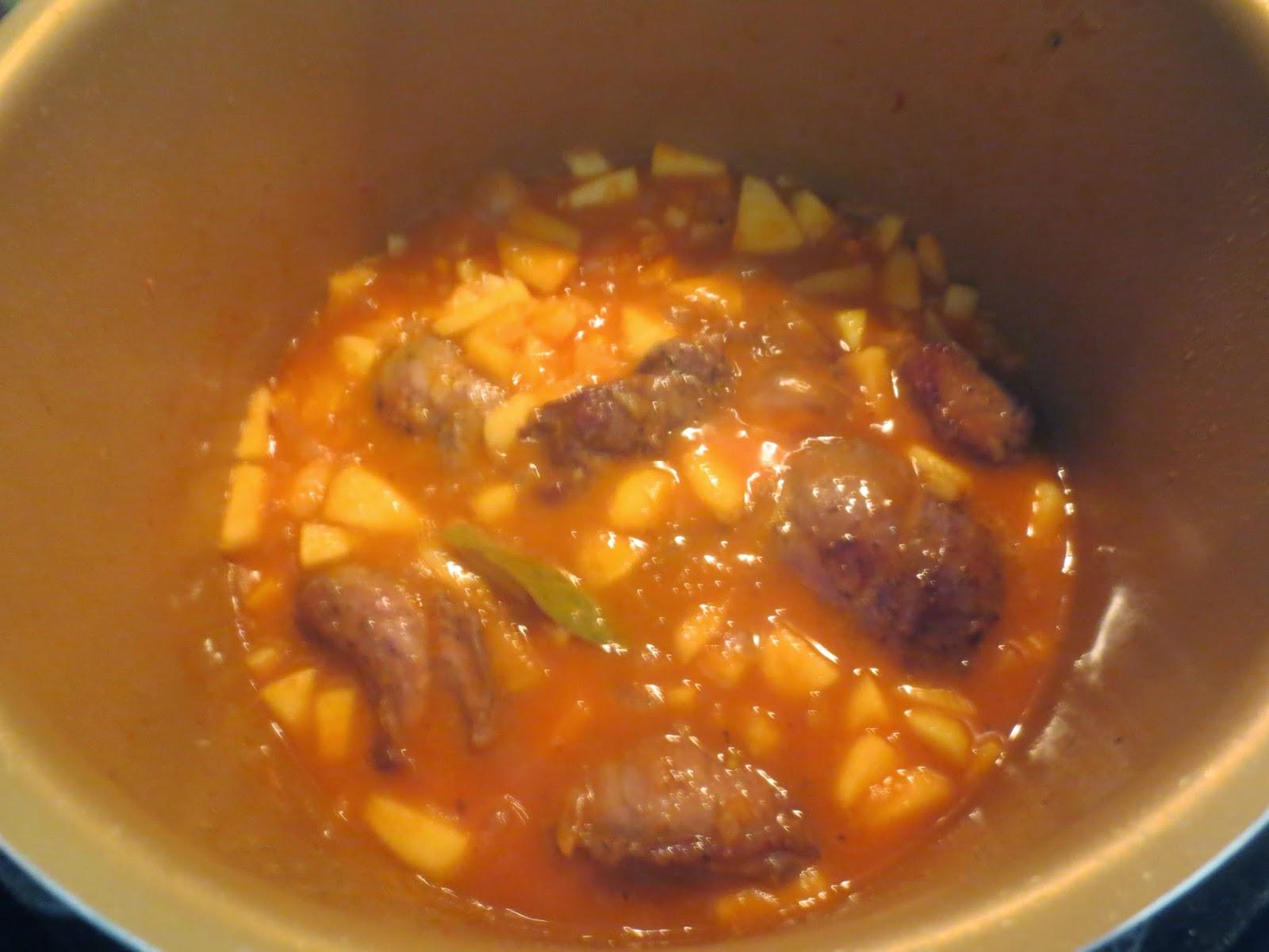 Carrilleras en salsa de manzana olla GM