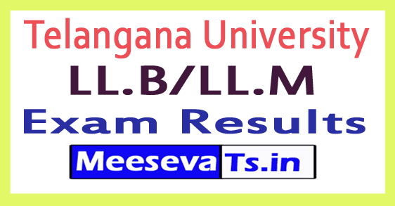 Telangana University TU LL.B/LL.M Exam Results 2017