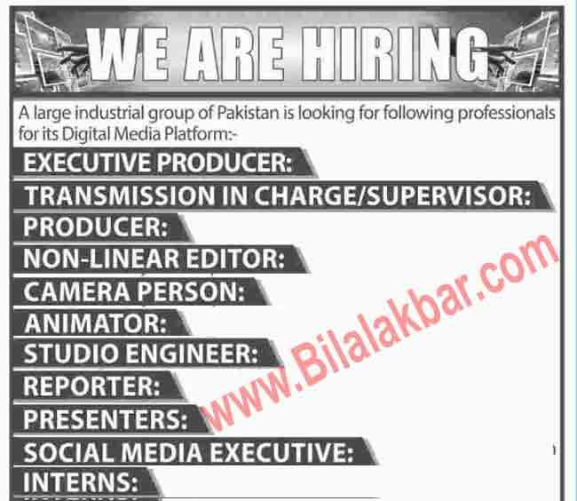Jobs Opportunities Industrial  Group Digital Media Platform
