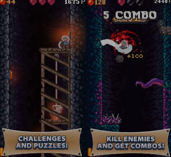 تحميل لعبة Cavefall للاندرويد ، تحميل لعبة Cavefall الايفون ، تحميل لعبة Cavefall للهواتف