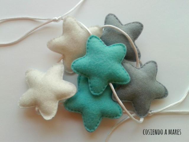 Cosiendo a mares ideas para navidad i guirnalda de - Como hacer guirnaldas de navidad ...