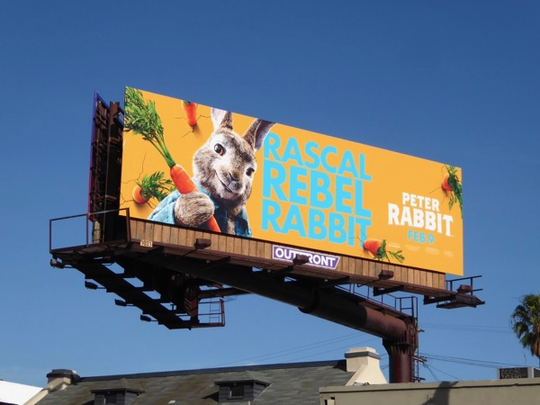 Peter Rabbit movie billboard