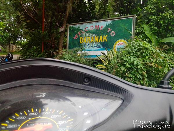 Daranak Falls signage