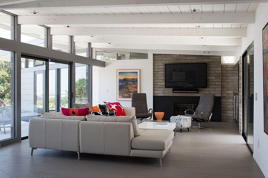 larsen interiors  llc  traditional vs mid century modern fireplace when decorating your living room