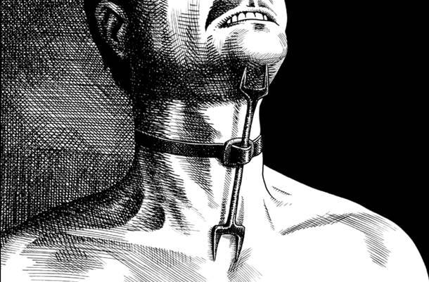 www.fertilmente.com.br - O Garfo Herege era bastante usado para punir e bruxas e subversivos