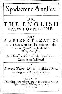 на источниках был построен «английский курорт» — «Spadacrene Anglica» и в 1610 г. слово «spa» вошло в английский язык как обозначение места, где лечат целебными водами