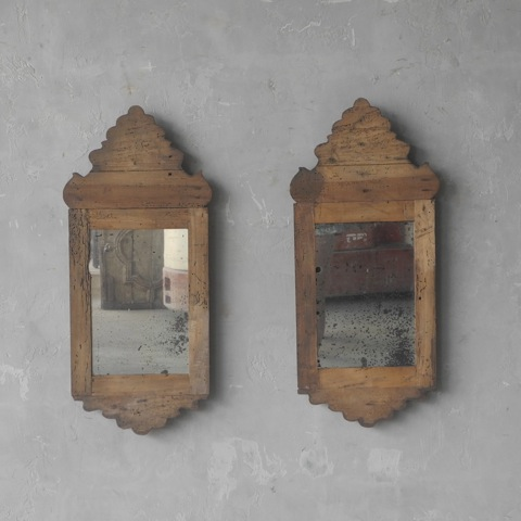 Pair 18th Century Tuscan Mirrors via Chateau Domingue as seen on linenandlavender.net