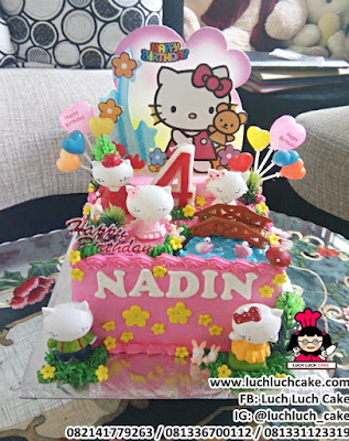 Birthday Cake Hello Kitty Mainan Lucu