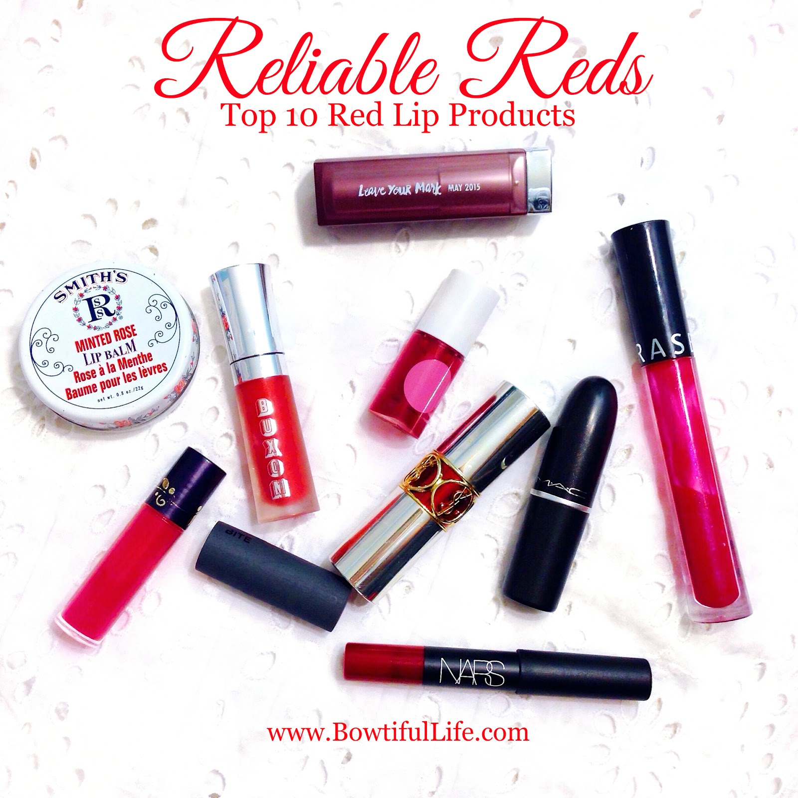 Reliable Reds – Top 10 Red Lip Products