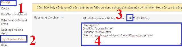 Google robots.txt tren blogspot