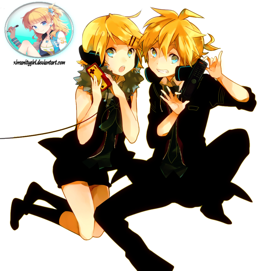 Render Rin and Len Kagamine