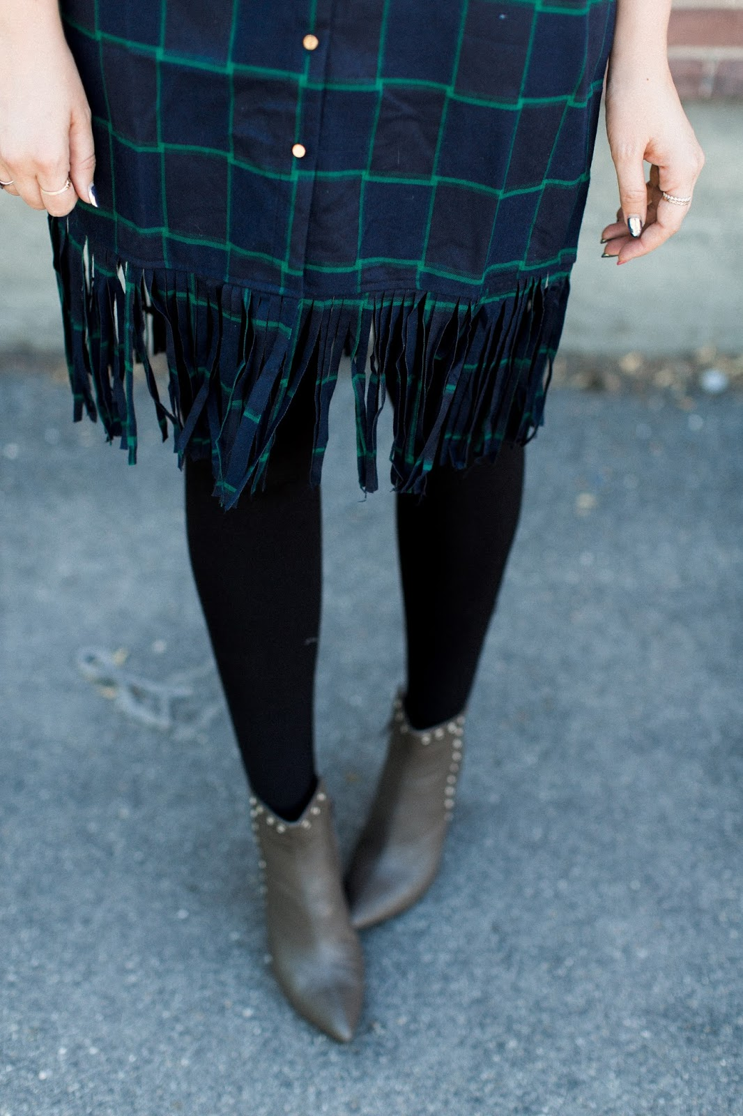 Fringe dress, Booties, Utah Fashion Blogger
