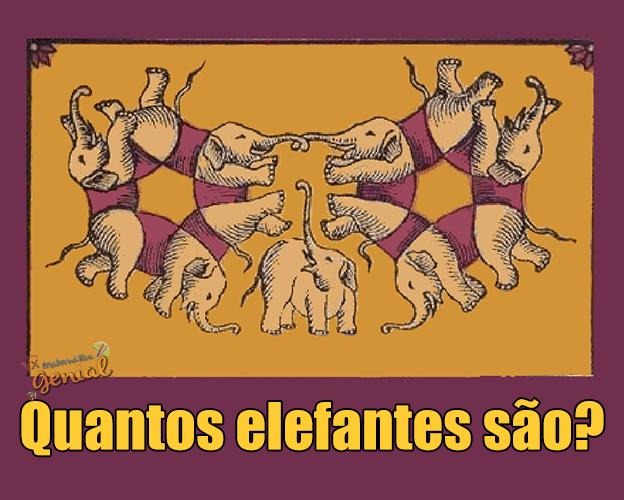 Ilusão de Ótica: Quantos elefantes são?
