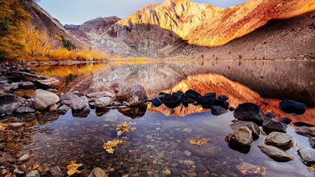 Convict Lake. Autumn View 4K
