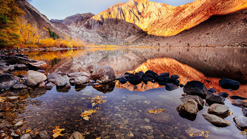View with Convict Lake in Autumn HD