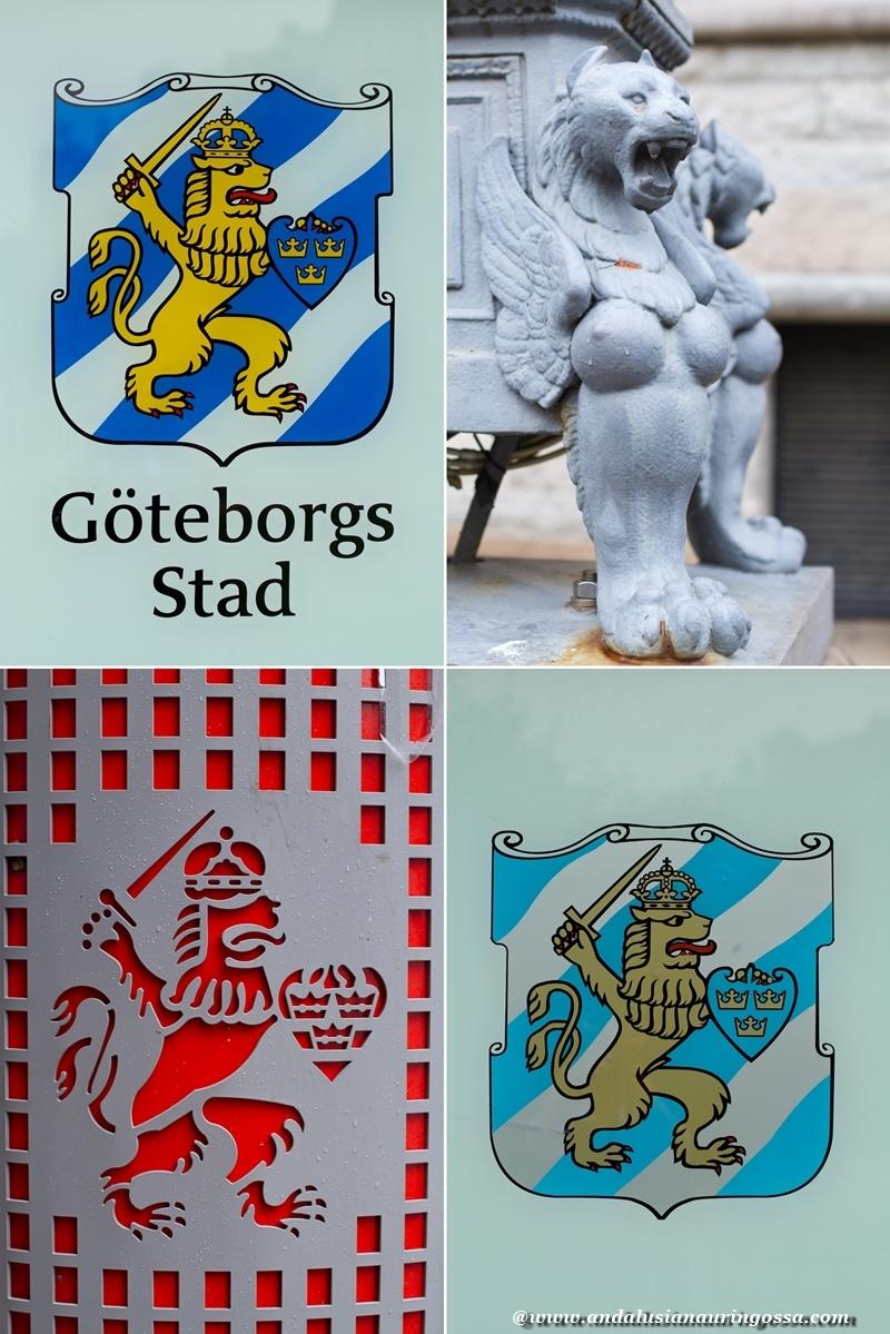 Andalusian auringossa_Göteborg_vaakuna