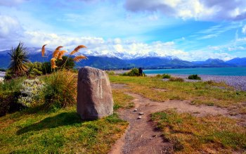 Wallpaper: Landscape and Mountains in New Zealand