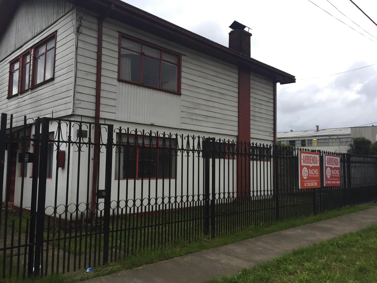 Rachel propiedades arriendo casa en sector comercial con for Arriendo de casas en temuco