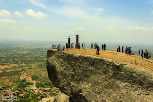 Shivagange, cliff on the peak