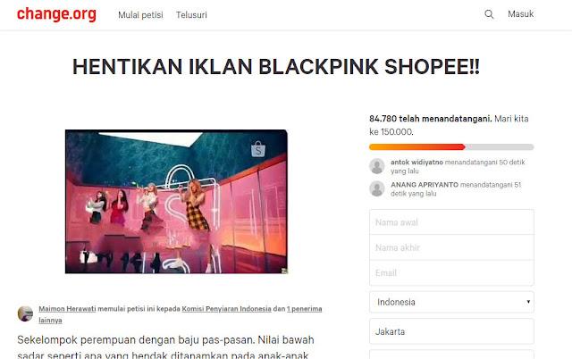 Puluhan Ribu Warganet Tanda Tangani Petisi Hentikan Iklan Blackpink Shopee!