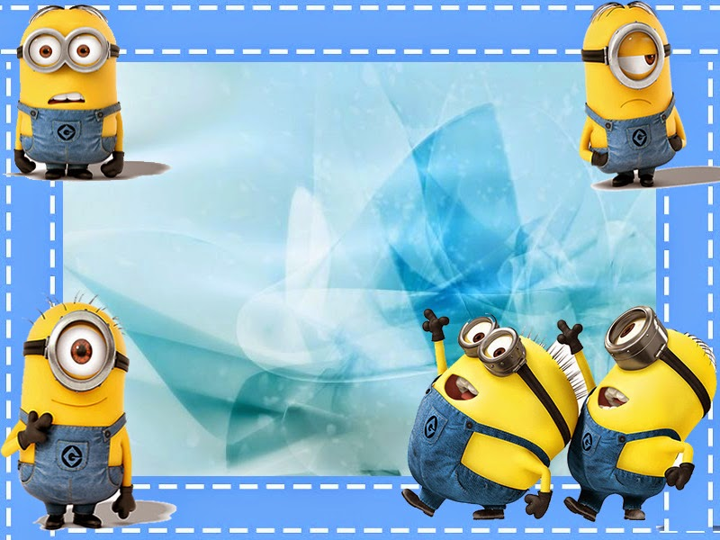 Minions En Fondo Azul Mini Kit Para Imprimir Gratis