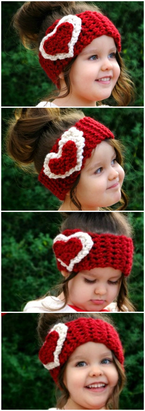 2 Free Heart Head Warmer Patterns