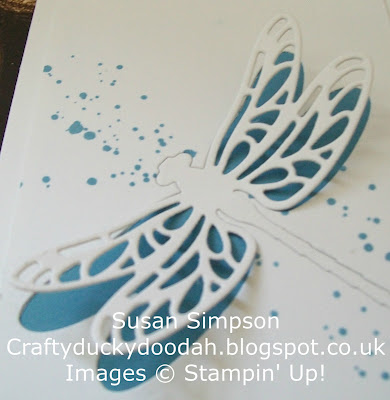 Stampin' Up! UK Independent Demonstrator Susan Simpson, Craftyduckydoodah!, Dragonfly Dreams, Detailed Dragonfly Thinlets Dies, Gorgeous Grunge,
