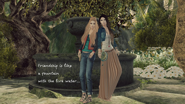 Friendship is like a fountain with the live water