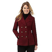 Debenhams Collection Dark Red Coat