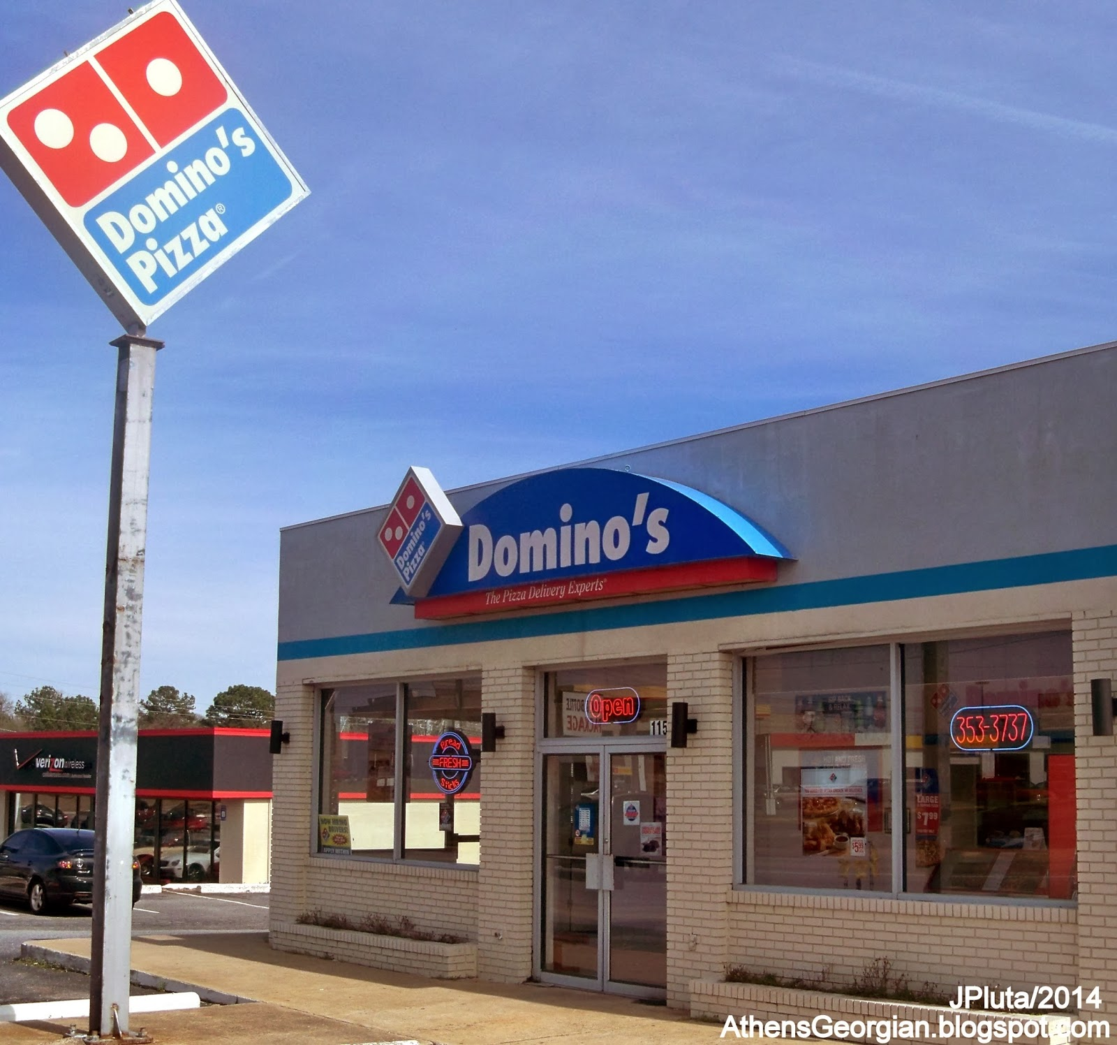 Domino S Pizza Athens Georgia Gaines School Road Delivery Restaurant