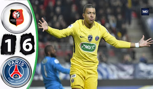 Rennes vs PSG Highlights and Full Match Coupe de France 7 January 2018 #rennes  #psg  #coupedefrance...