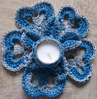 free crochet tea light candle holder pattern