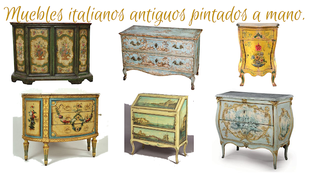 Historia de los estilos art sticos el mueble italiano - Tecnicas de pintar muebles ...