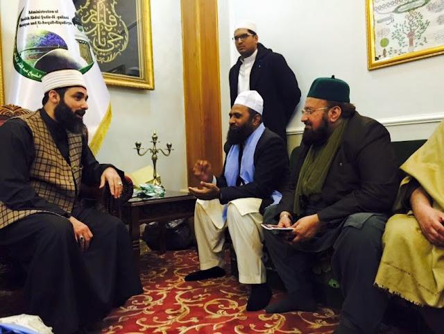 With Sujjaadah nasheen of Saiyyidinaa Ghaus e A'zam Saiyyid Haashim Mansoor ud Deen-Baghdad Shareef-2016