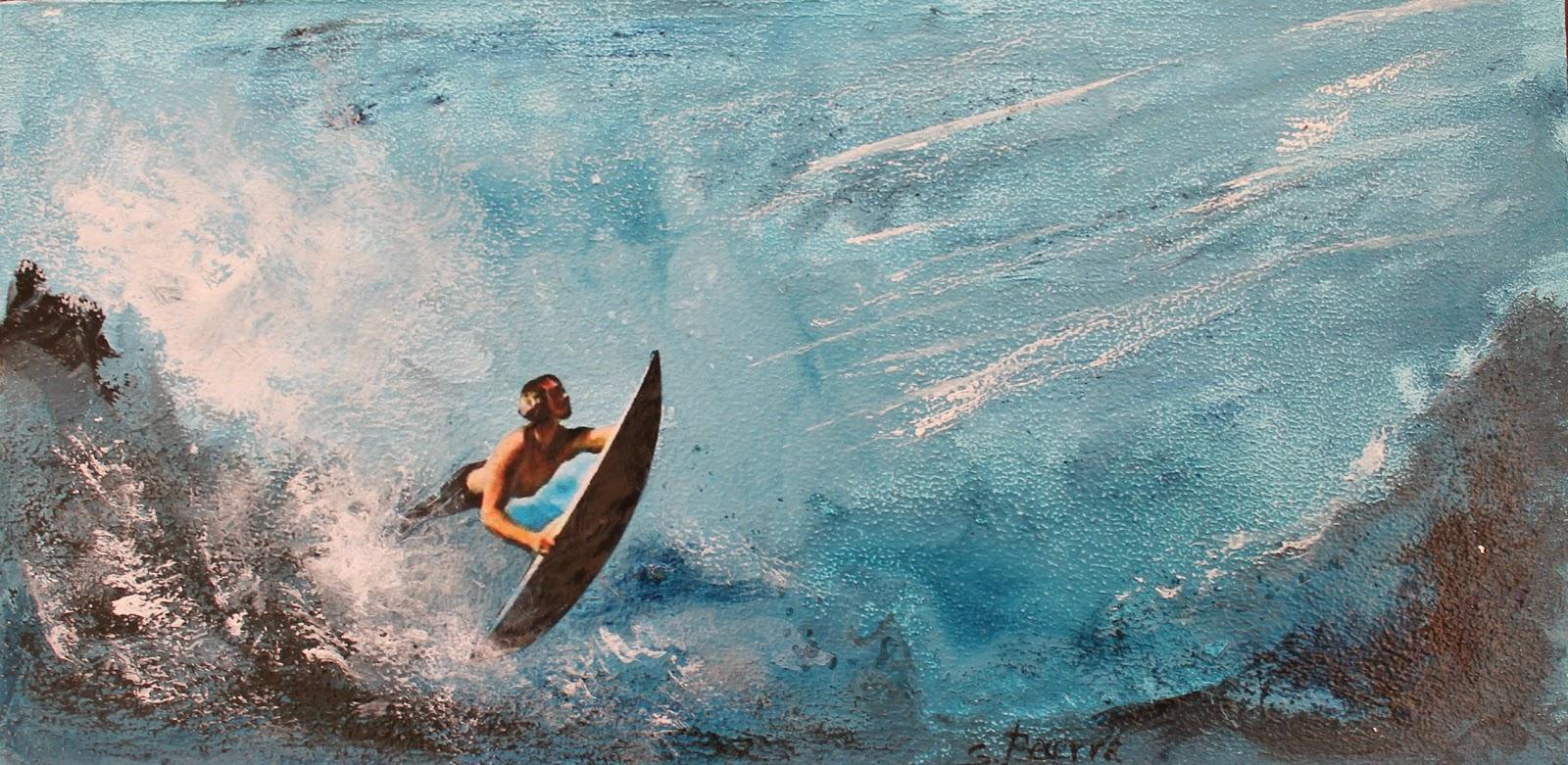 Arte con surf: la mezcla de pintura y fotografía de Susana Becerra