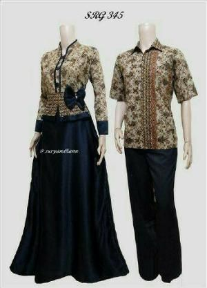 Contoh Model Baju Batik Untuk Pesta Pernikahan Terbaru, Modern dan Simpel