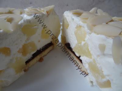"""Ciasto bez pieczenia """"Ananasowy kaprys"""""""