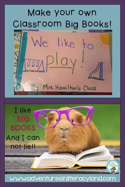 Make your own big class big books using sight words and student pictures.