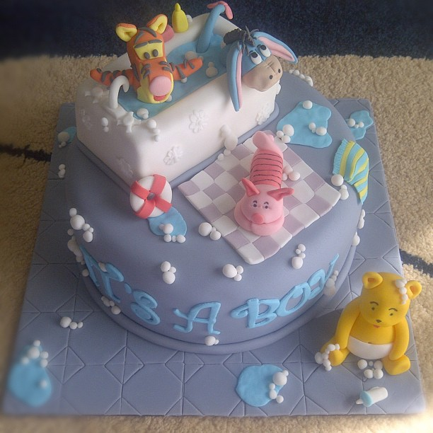 Heavenly Dlights Winnie The Pooh Baby Shower Cake